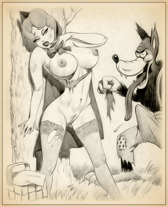 Порно картинки из мультика красная шапочка